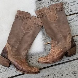 Corral Vintage | Leather Snakeskin Boots